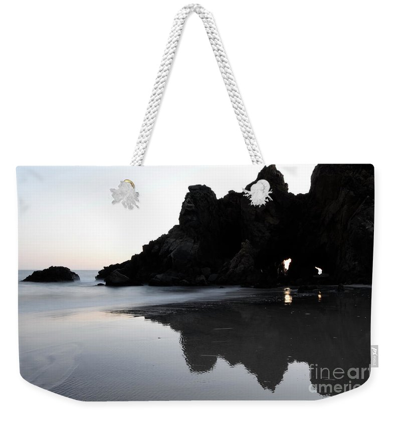 Pfeiffer Rock Weekender Tote Bag featuring the photograph Reflections Big Sur by Bob Christopher