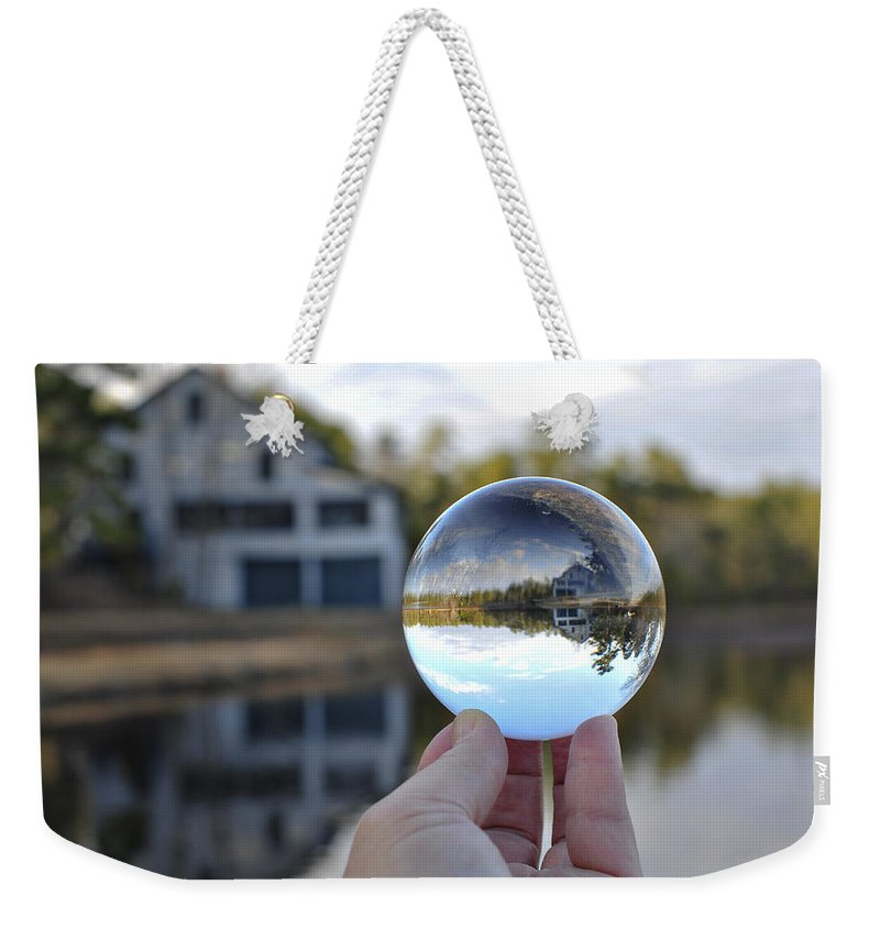 Reflection Water Glass Double Trouble State Park Photo Photography Print Art Crystal Weekender Tote Bag featuring the photograph Reflections Of A Beautiful Day by Terry DeLuco