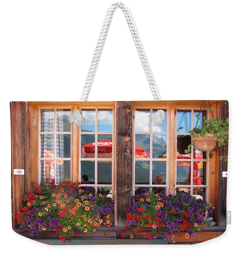 Windows Weekender Tote Bag featuring the photograph Reflections Of Switzerland by Mary Ellen Mueller Legault