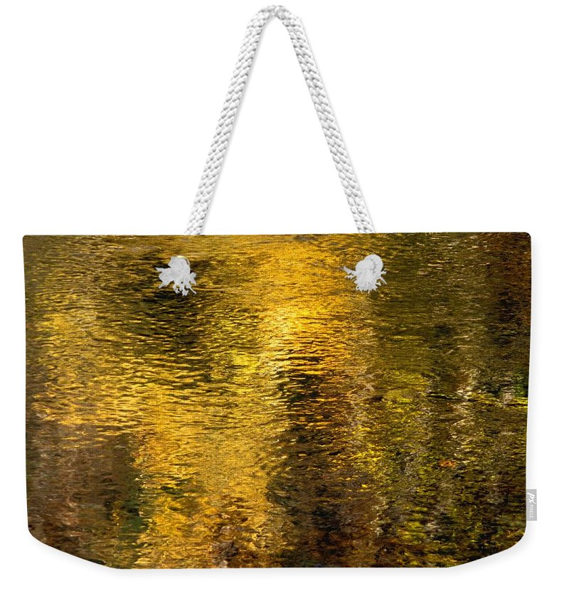 Concept Weekender Tote Bag featuring the photograph Reflections On The Water by David Chapman