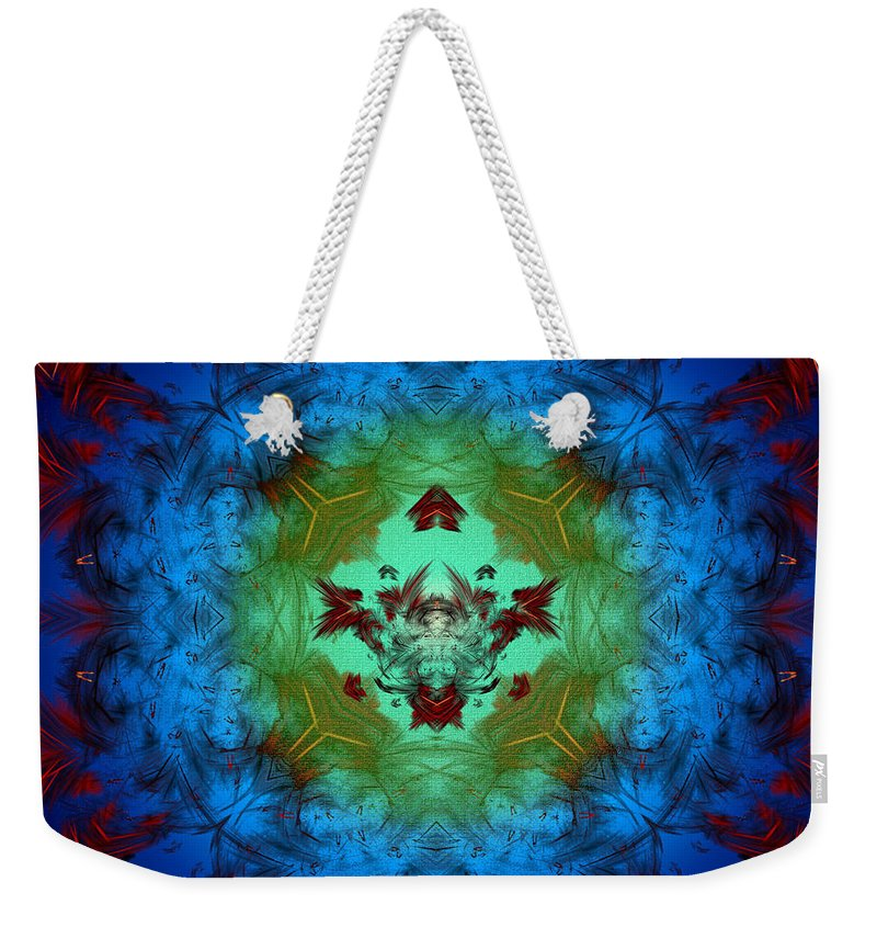 Apophysis Weekender Tote Bag featuring the digital art Regal Abyss by Mario Carini