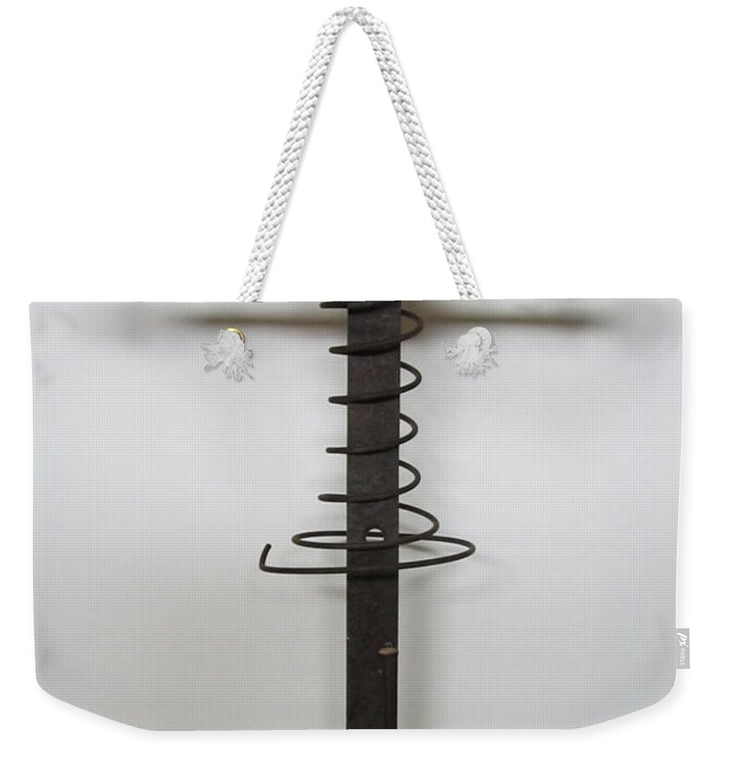 Sculpture Weekender Tote Bag featuring the sculpture Reluctant Sacrifice by Snake Jagger