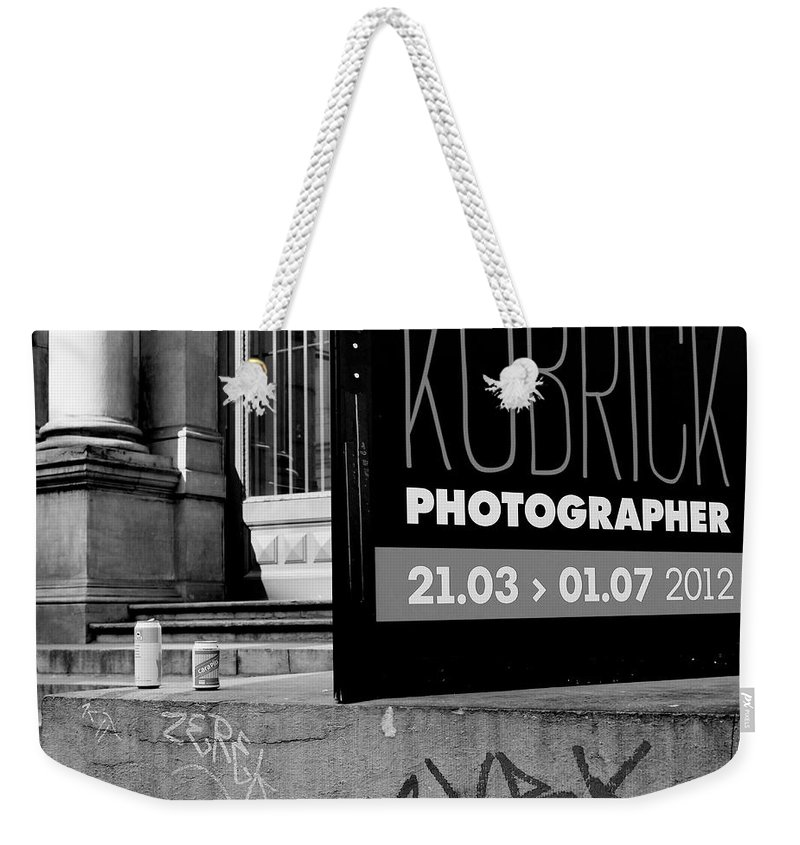 Kubrick Weekender Tote Bag featuring the photograph Remembering Kubrick by Donato Iannuzzi