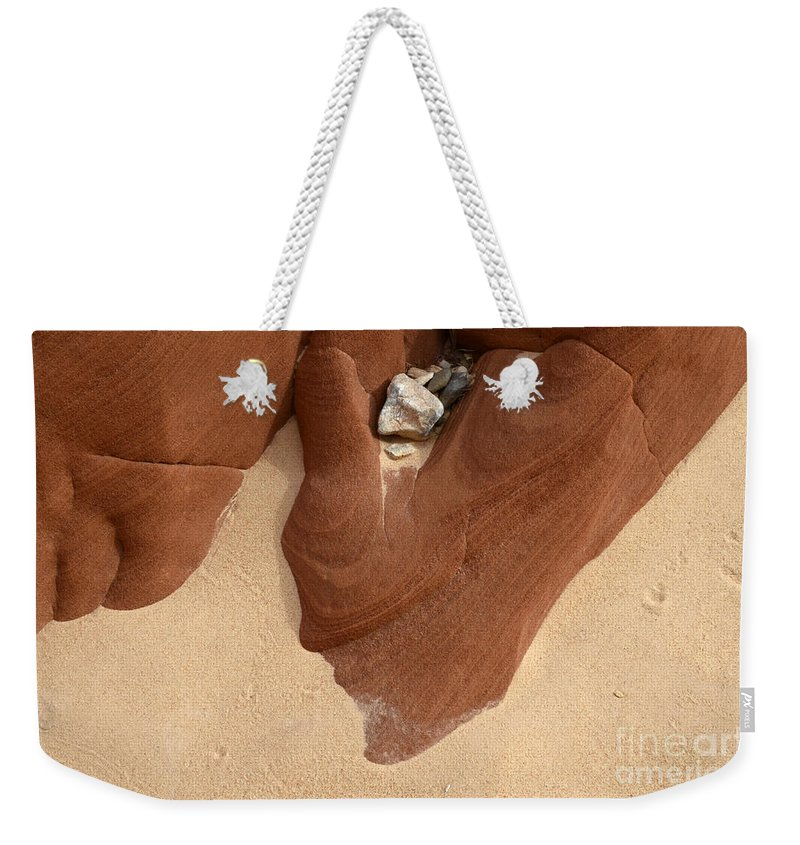 Beauty Of Sandstone Weekender Tote Bag featuring the photograph Remnants by Bob Christopher