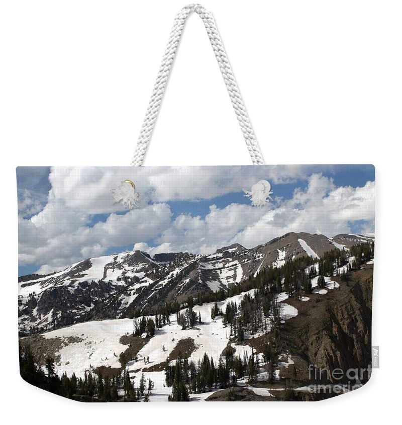 Rendezvous Mountain Weekender Tote Bag featuring the photograph Rendezvous Mountain 2 by Living Color Photography Lorraine Lynch