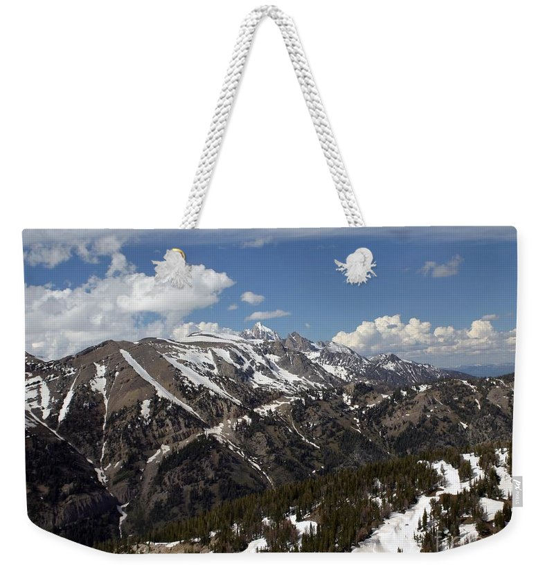 Rendezvous Mountain Weekender Tote Bag featuring the photograph Rendezvous Mountain by Living Color Photography Lorraine Lynch