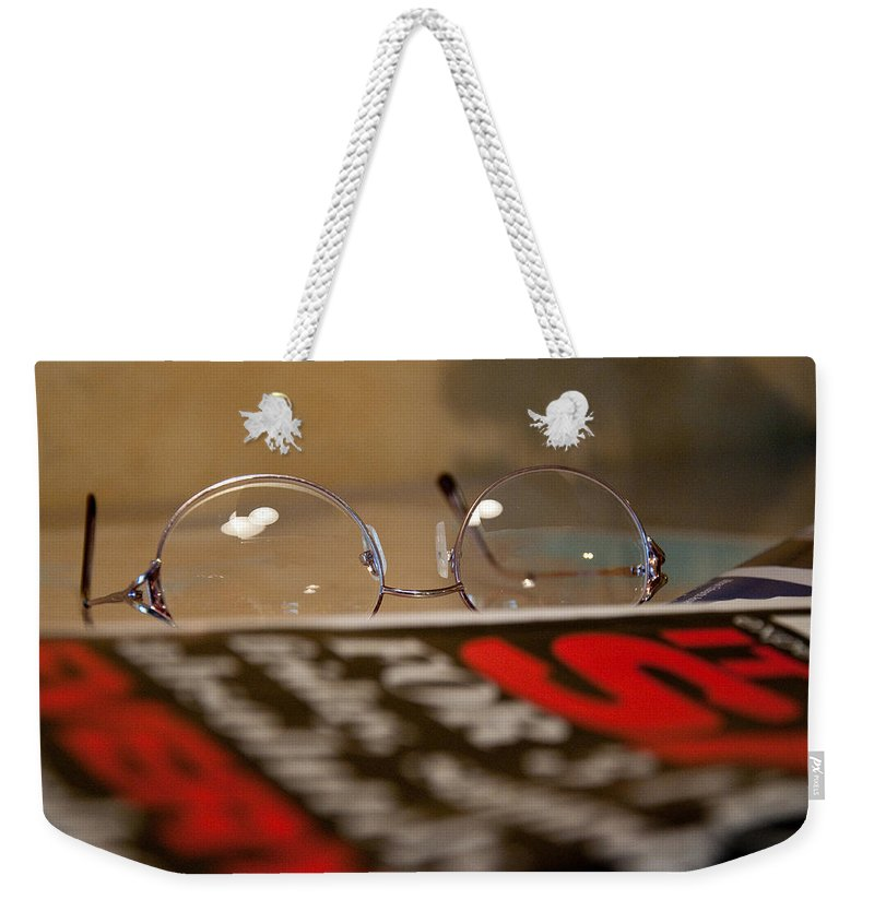 Reading Weekender Tote Bag featuring the photograph Resting My Eyes by Christine Stonebridge