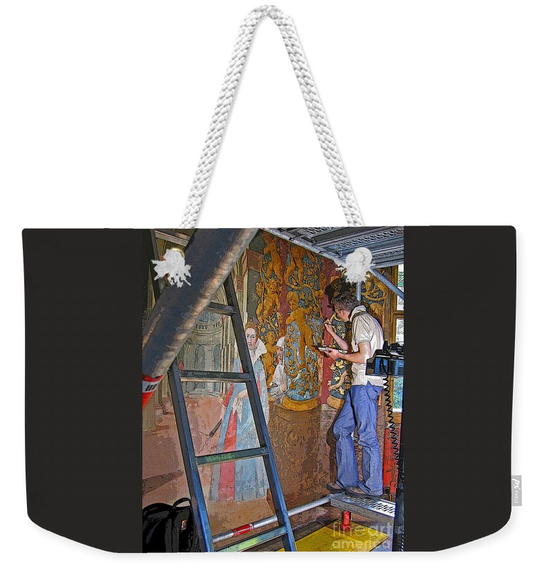 Art Weekender Tote Bag featuring the photograph Restoring Art by Ann Horn