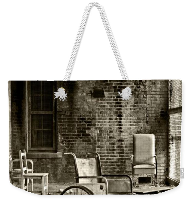 Abandoned Weekender Tote Bag featuring the photograph Restrain by Conor McLaughlin