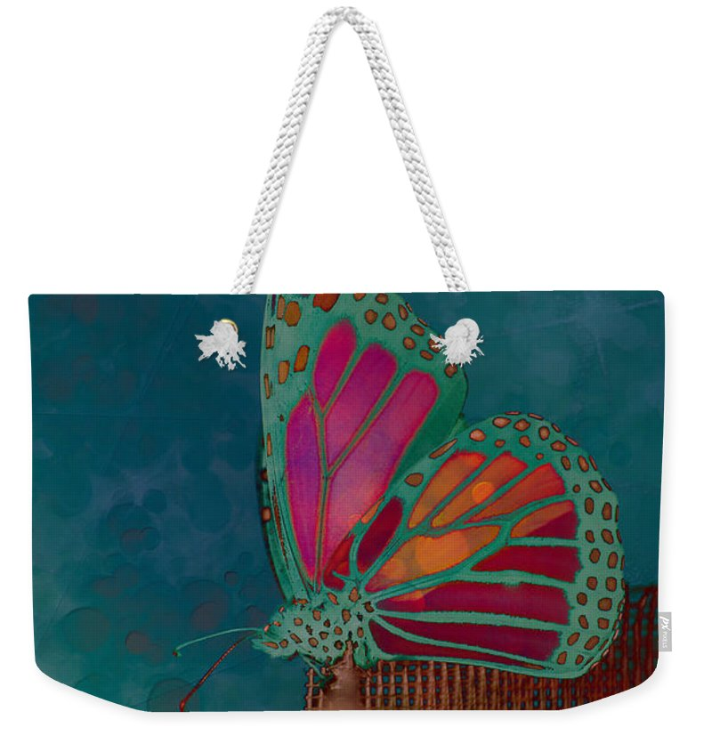 Butterfly Weekender Tote Bag featuring the photograph Reve De Papillon - S04bt02 by Variance Collections