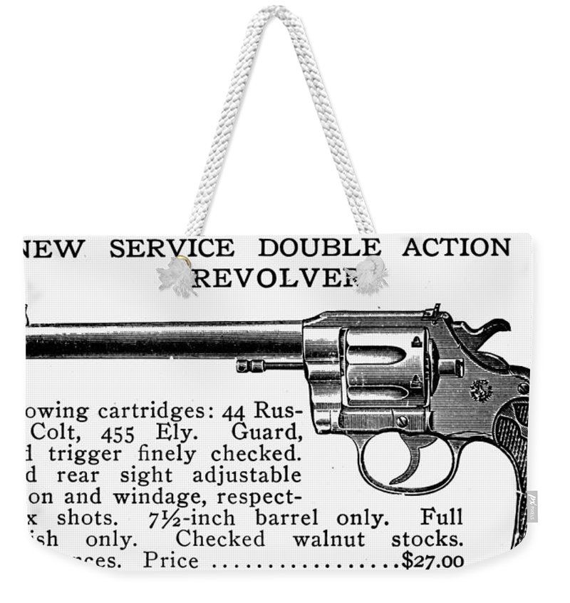 19th Century Weekender Tote Bag featuring the photograph Revolver, 19th Century by Granger