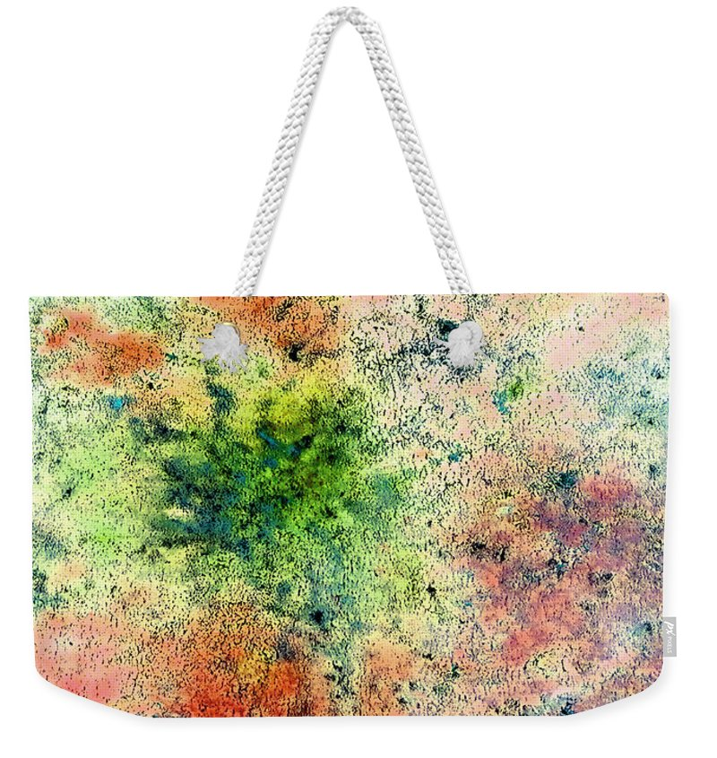 Rhapsody Weekender Tote Bag featuring the painting Rhapsody Of Stars In A Major by Giro Tavitian
