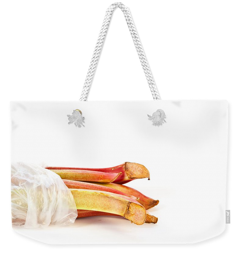 Agriculture Weekender Tote Bag featuring the photograph Rhubarb by Tom Gowanlock