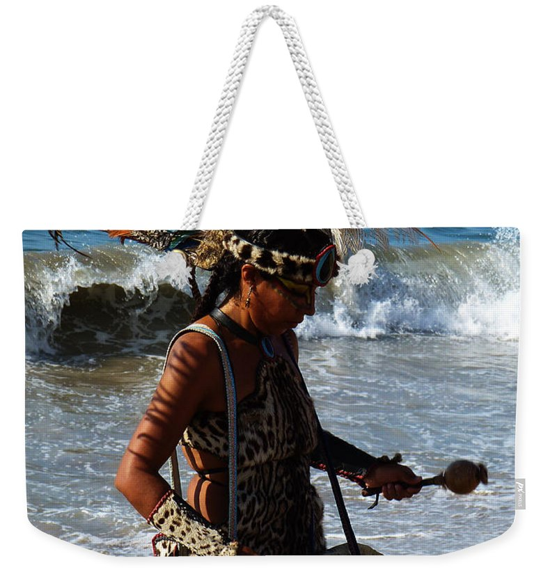 American Indians Tribes Weekender Tote Bag featuring the photograph Rhythm Of The Ocean by Xueling Zou
