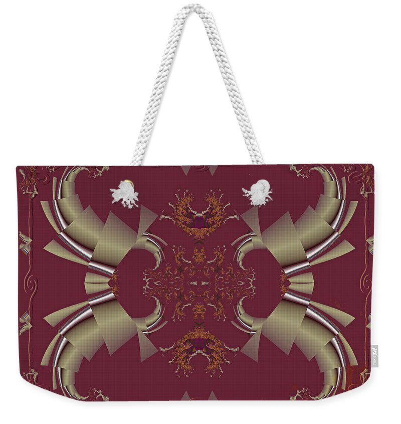 Fractal Weekender Tote Bag featuring the photograph Ribbons To Claws by Mother Nature