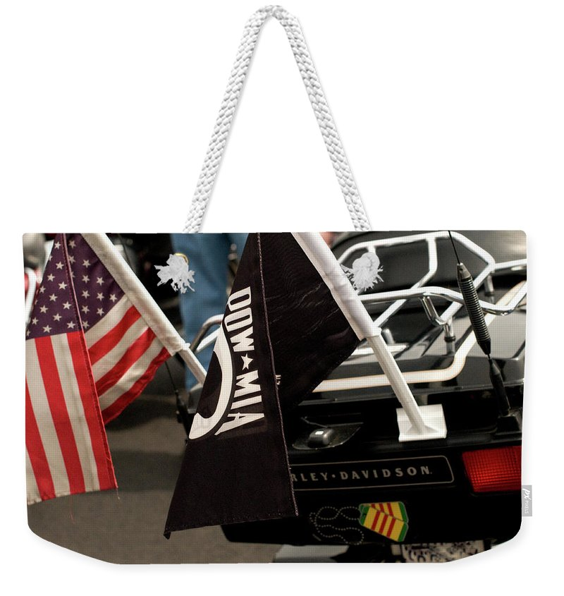 washington Dc Weekender Tote Bag featuring the photograph Ride For Hero's by Paul Mangold