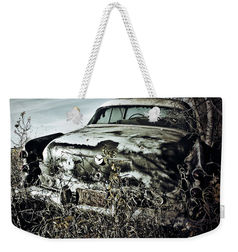 Street Photographer Framed Prints Weekender Tote Bag featuring the photograph Ride Of Abandonment by The Artist Project