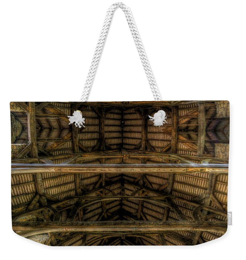 Art Weekender Tote Bag featuring the photograph Riding School - Ceiling Vertorama by Yhun Suarez