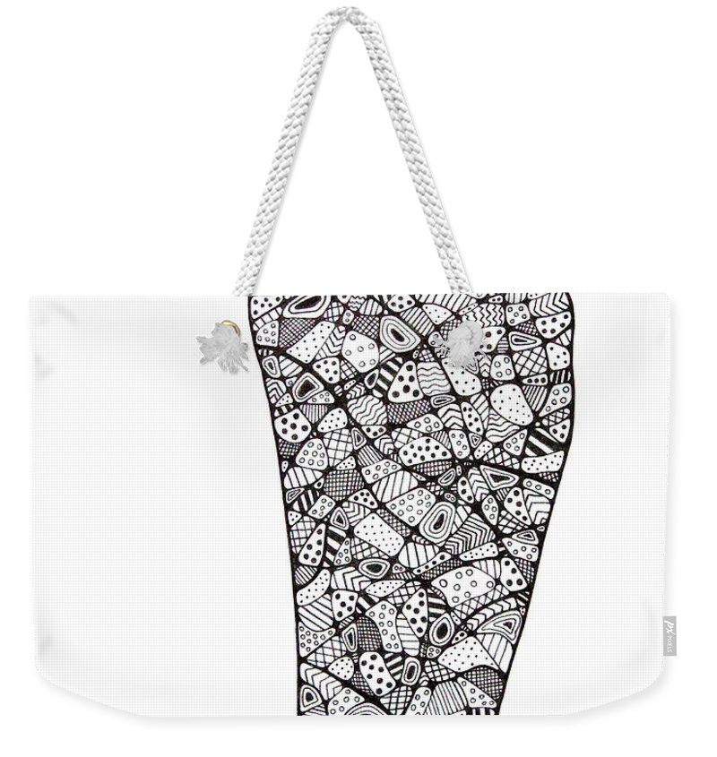 Foot Weekender Tote Bag featuring the drawing Right Foot by Leanne Karlstrom