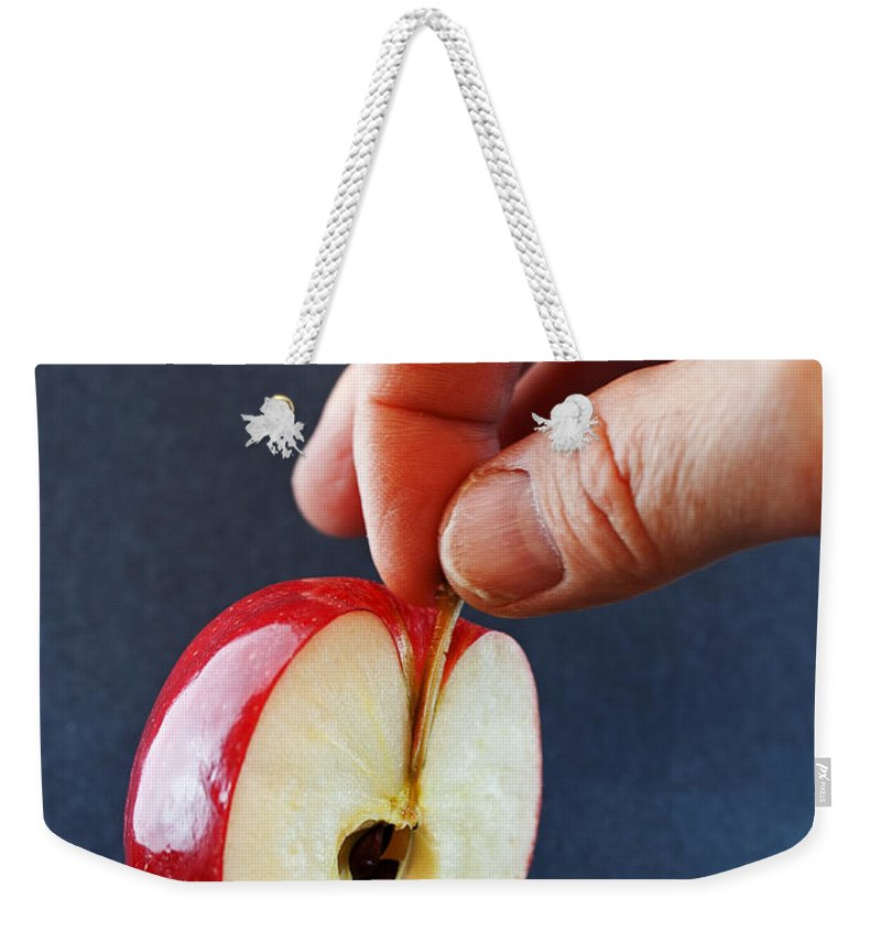 Apple Weekender Tote Bag featuring the photograph Ripe For The Picking by Jeff Galbraith