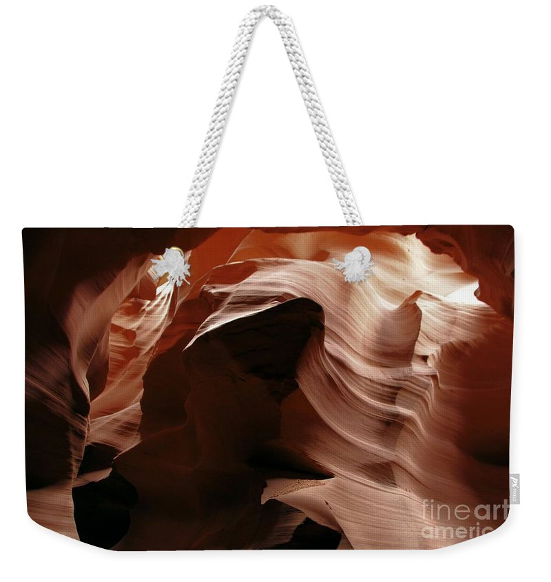 Antelope Canyon Weekender Tote Bag featuring the photograph Ripples In The Stone by Adam Jewell