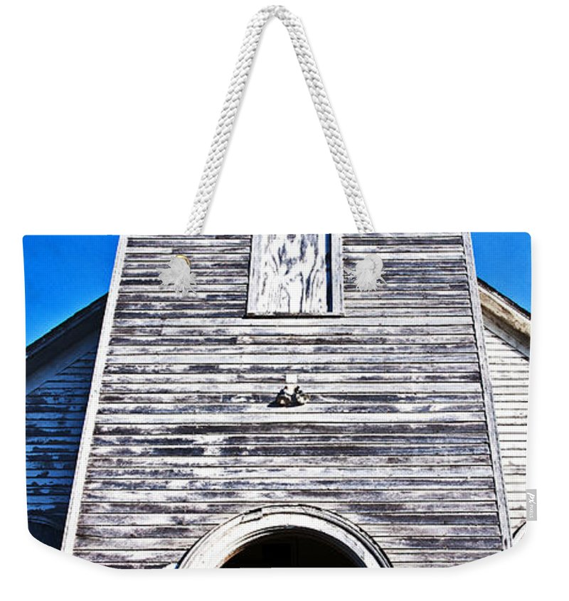 Church Weekender Tote Bag featuring the photograph Rising To The Sky by Edward Peterson