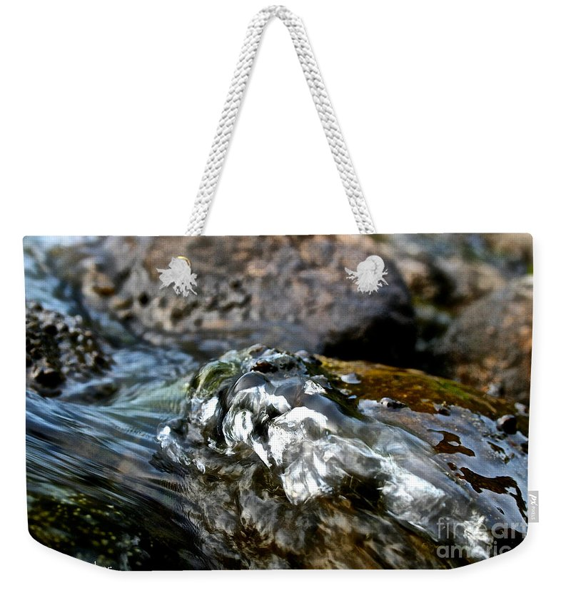 Outdoors Weekender Tote Bag featuring the photograph River Rock by Susan Herber