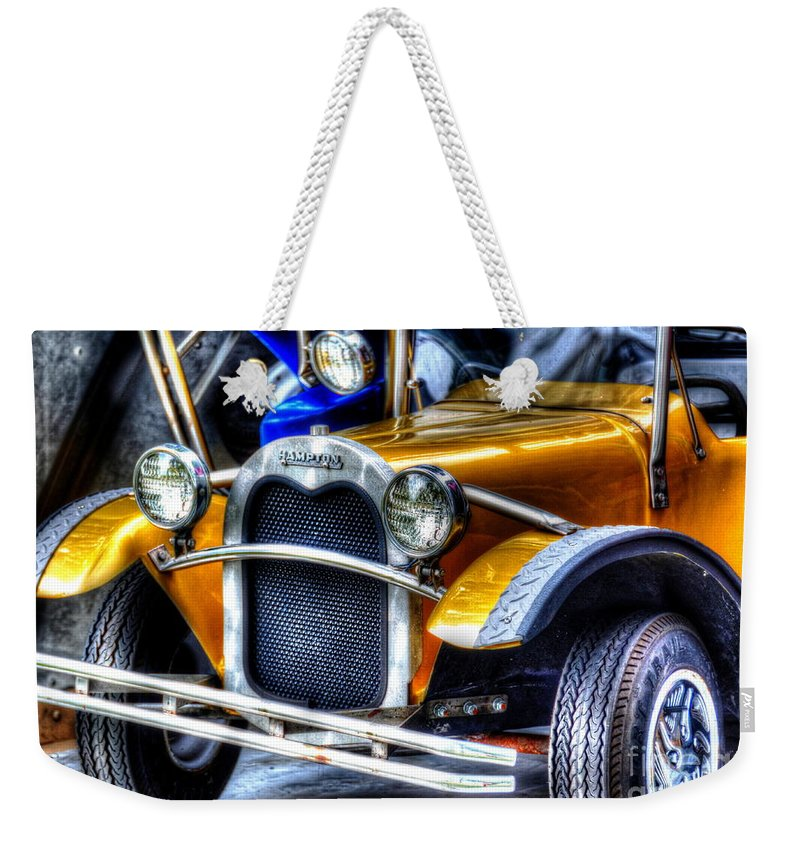 Car Weekender Tote Bag featuring the photograph Road Trip by Debbi Granruth