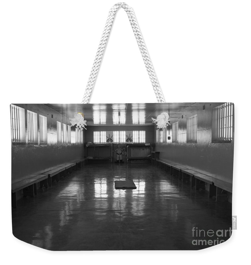 Robben Island Weekender Tote Bag featuring the photograph Robben Prison 01 by Aidan Moran