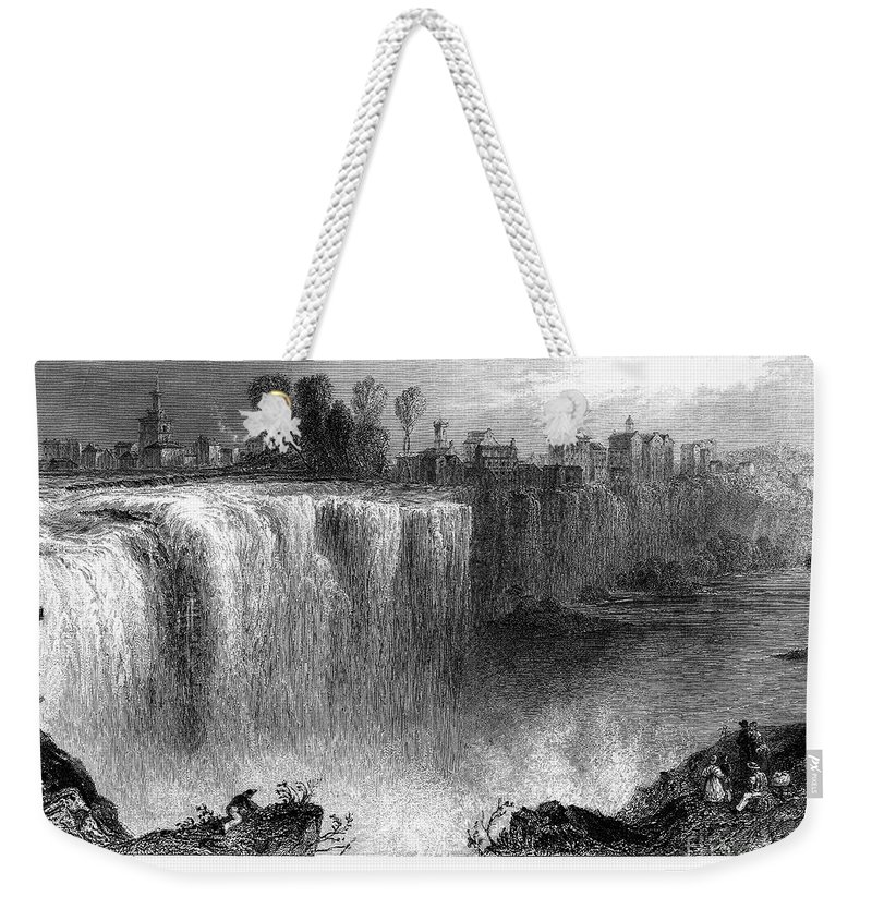 1838 Weekender Tote Bag featuring the photograph Rochester: Genesee Falls by Granger