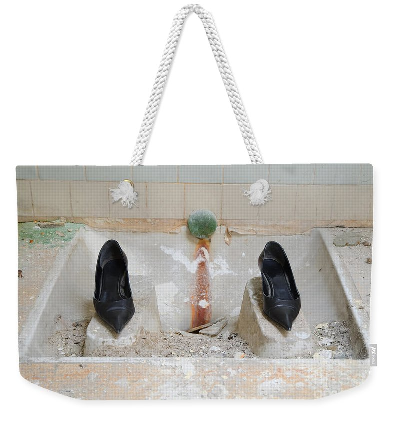Shoes Weekender Tote Bag featuring the photograph Rocket Woman by Mats Silvan