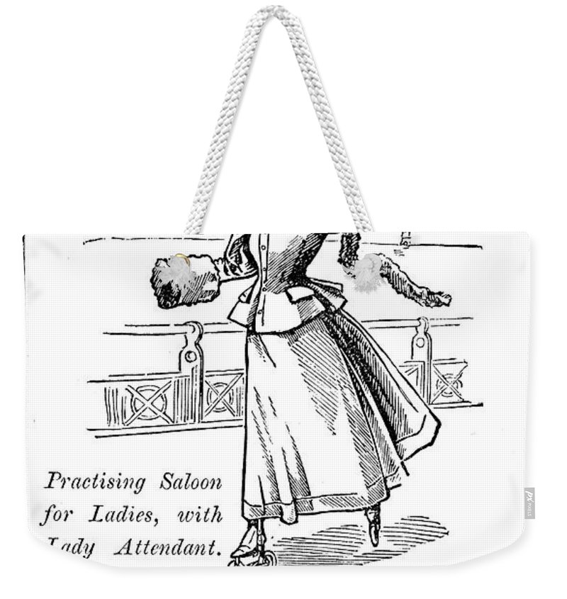 1896 Weekender Tote Bag featuring the photograph Roller Skates, 1896 by Granger
