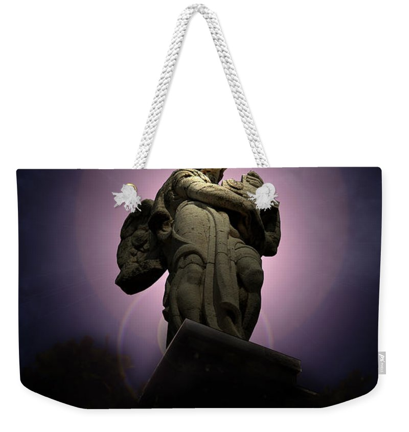 Rome Weekender Tote Bag featuring the photograph Roman Statue 3 Rome Italy by Mike Nellums