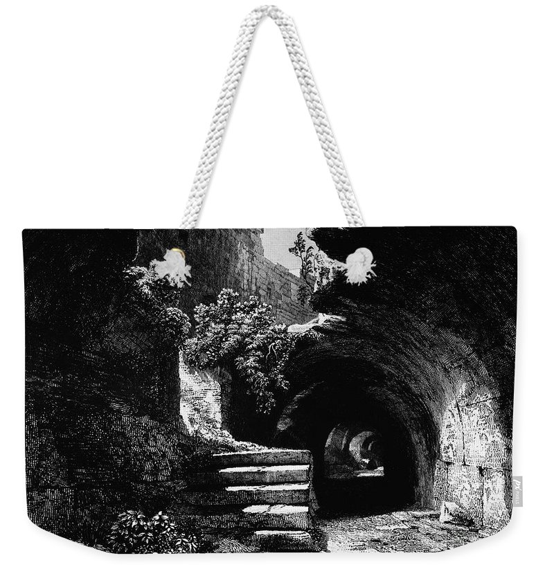 1840 Weekender Tote Bag featuring the photograph Rome: Colosseum, 1840 by Granger