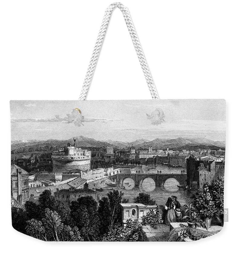 1833 Weekender Tote Bag featuring the photograph Rome: Scenic View, 1833 by Granger