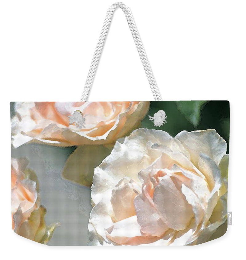 Floral Weekender Tote Bag featuring the photograph Rose 125 by Pamela Cooper