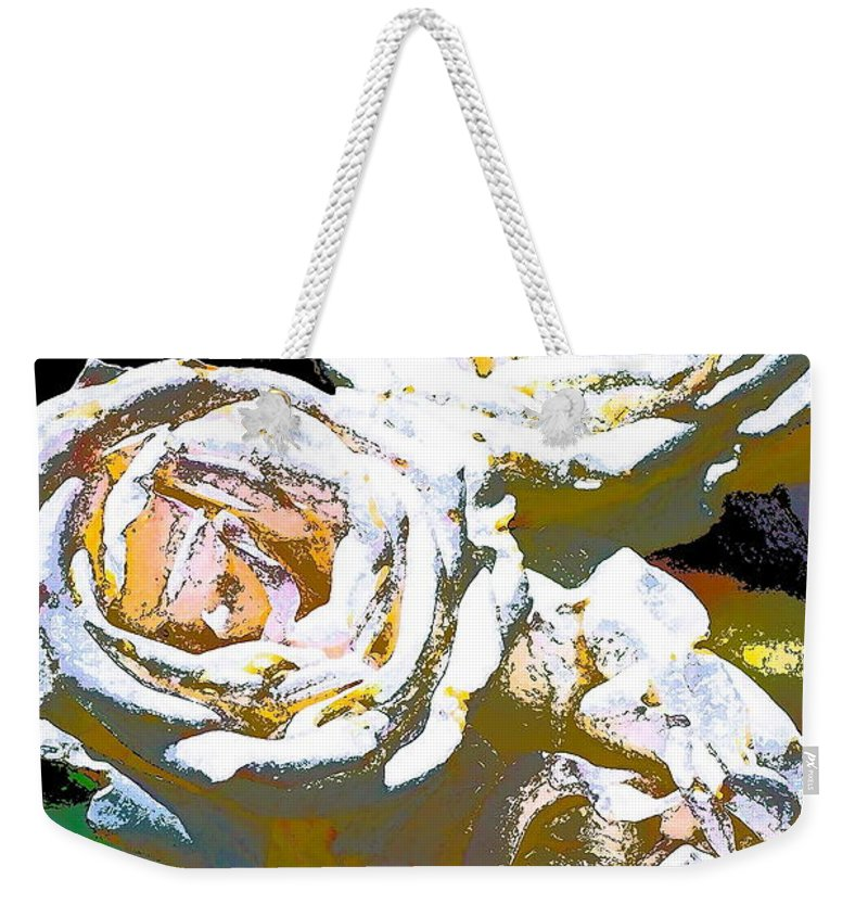 Floral Weekender Tote Bag featuring the photograph Rose 126 by Pamela Cooper