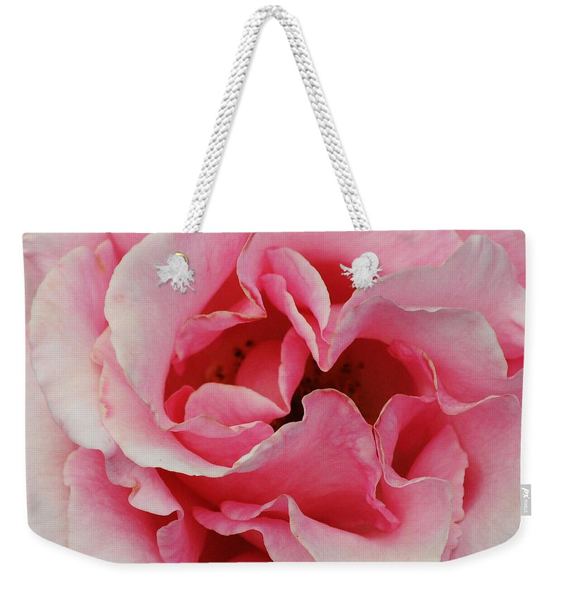 Pink Weekender Tote Bag featuring the photograph Rose 7 by Vivian Christopher