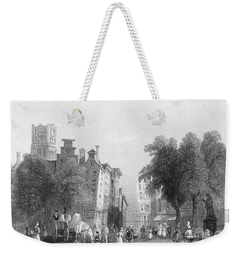 1830s Weekender Tote Bag featuring the photograph Rotterdam, C1830s by Granger