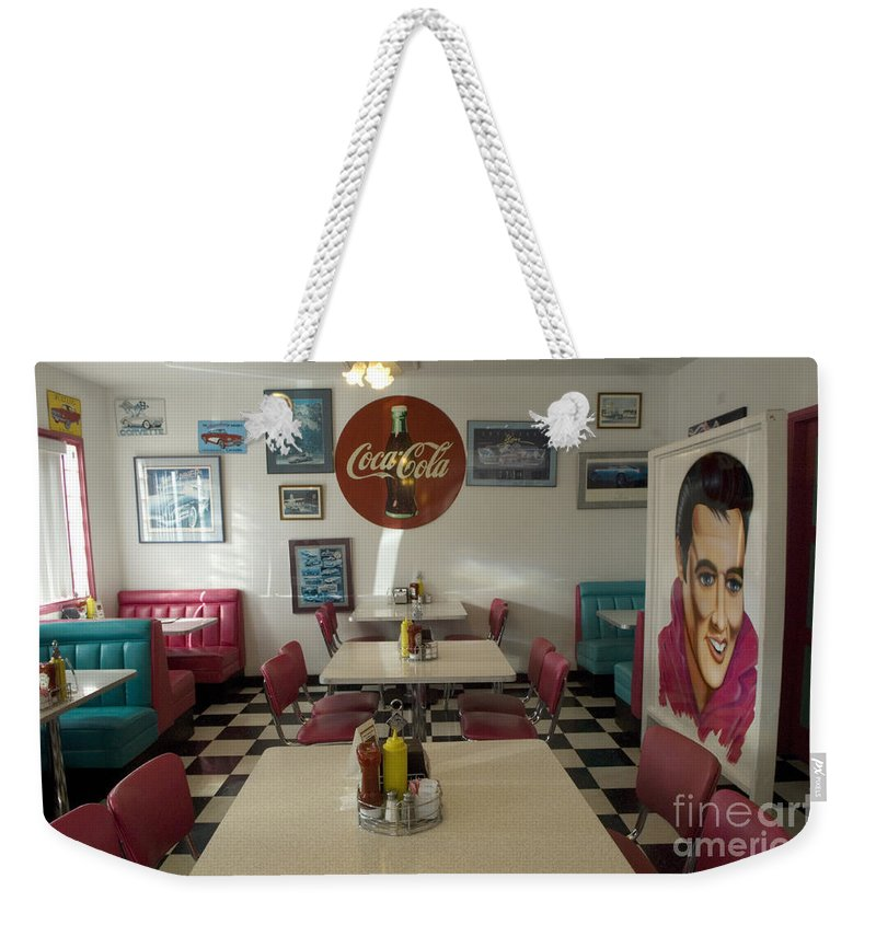 Flames Weekender Tote Bag featuring the photograph Route 66 Burgers by Bob Christopher