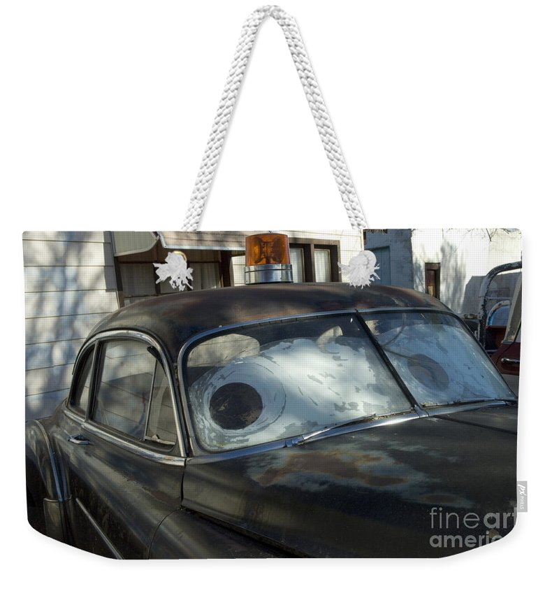 Cars Movie Weekender Tote Bag featuring the photograph Route 66 Cars by Bob Christopher