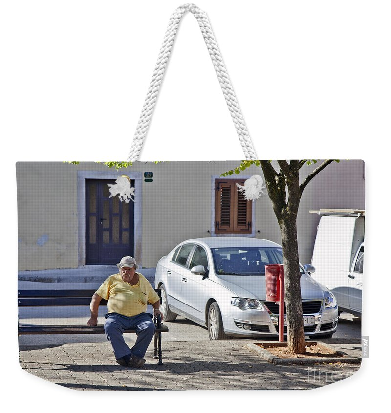 Man Weekender Tote Bag featuring the photograph Rovinj Man by Madeline Ellis