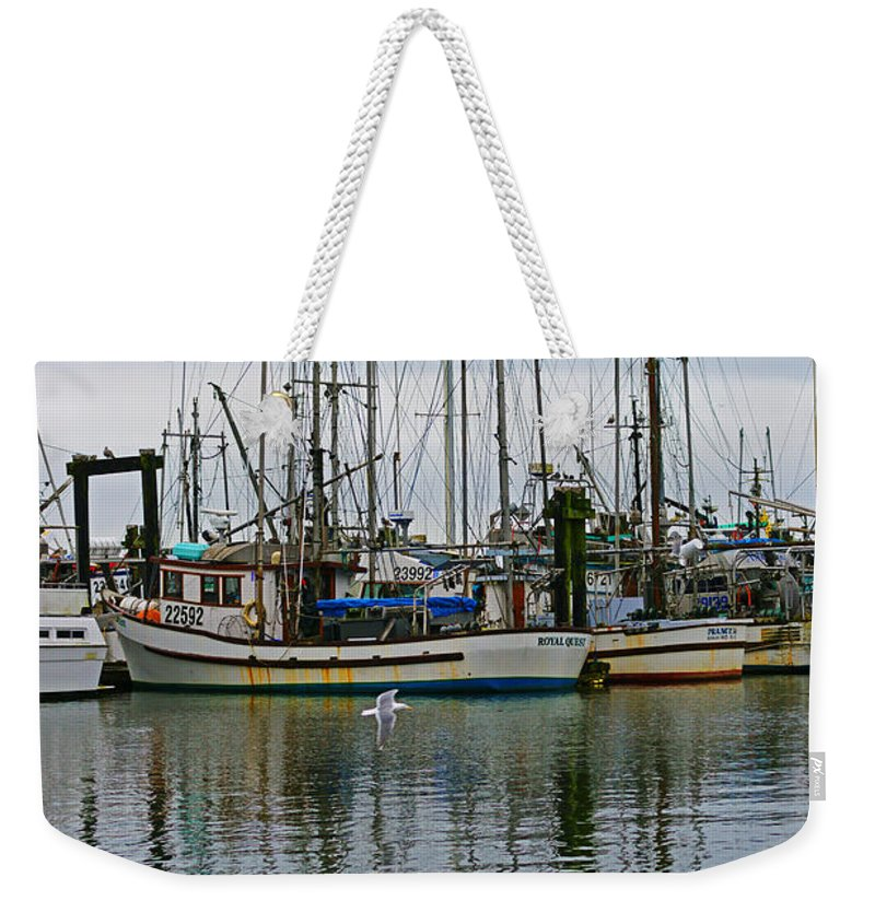 Fishing Boats Weekender Tote Bag featuring the photograph Royal Quest by Randy Harris