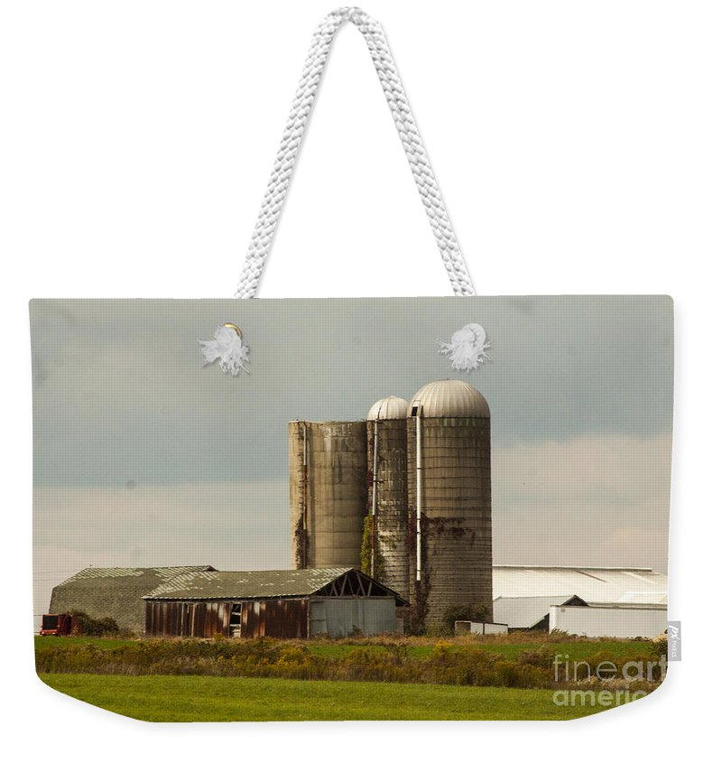 Farm Weekender Tote Bag featuring the photograph Rural Country Farm by Darleen Stry