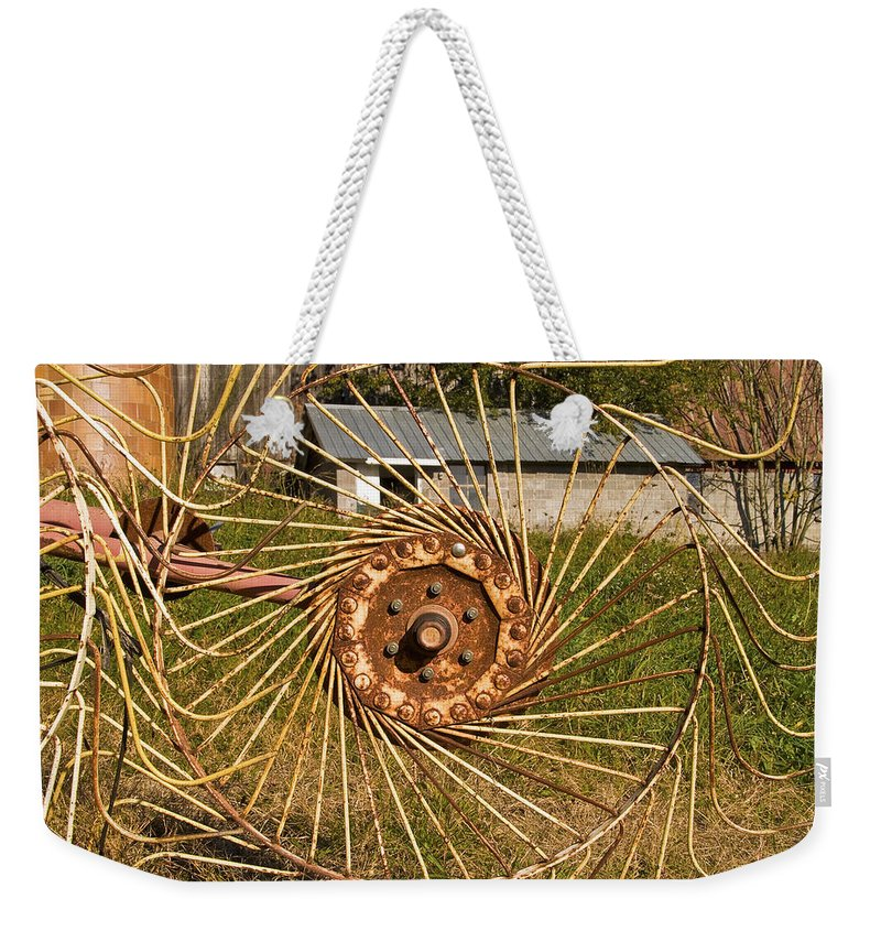 Farm Weekender Tote Bag featuring the photograph Rural Vista by Fran Gallogly