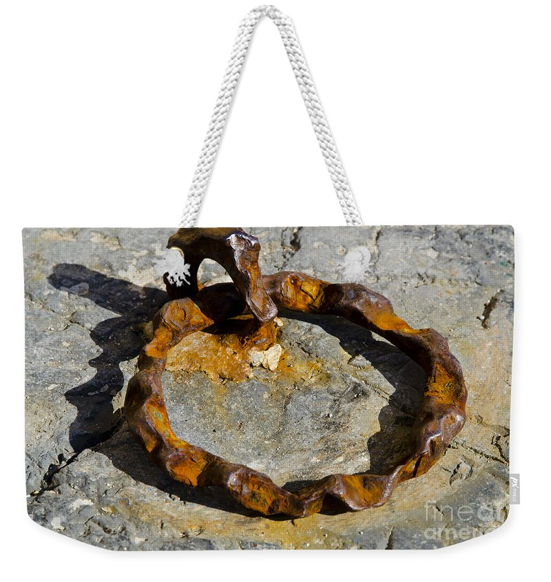 Rusty Weekender Tote Bag featuring the photograph Rusty Ring by Mats Silvan