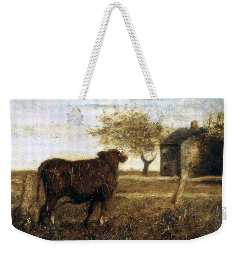 1875 Weekender Tote Bag featuring the photograph Ryder: The Pasture, C1875 by Granger