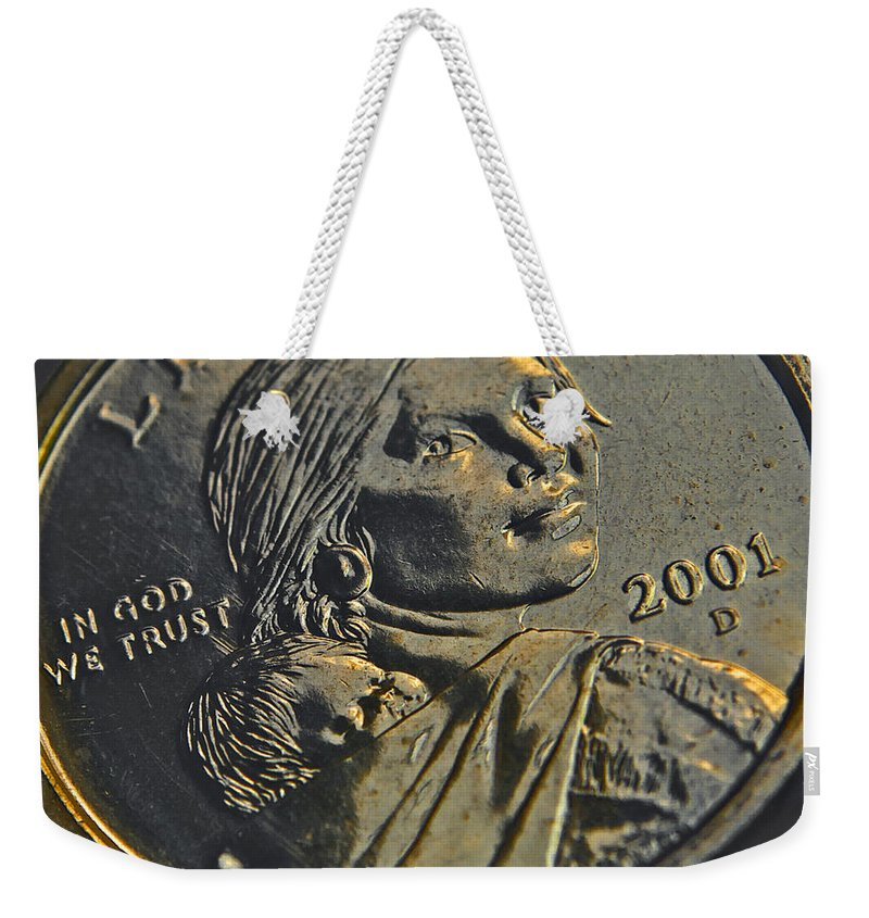 Usa Weekender Tote Bag featuring the photograph Sacagawea 2001 by Bill Owen