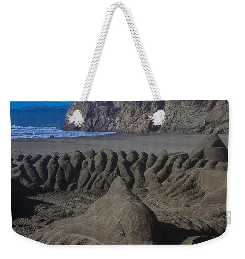Dolphin Weekender Tote Bag featuring the photograph Sand Dolphin by Garry Gay