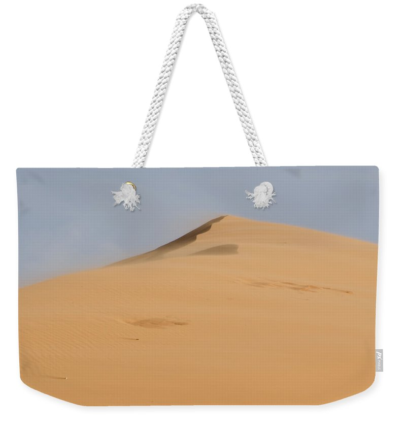 Coral Pink Sand Dunes Weekender Tote Bag featuring the photograph Sand Dune by Heather Applegate